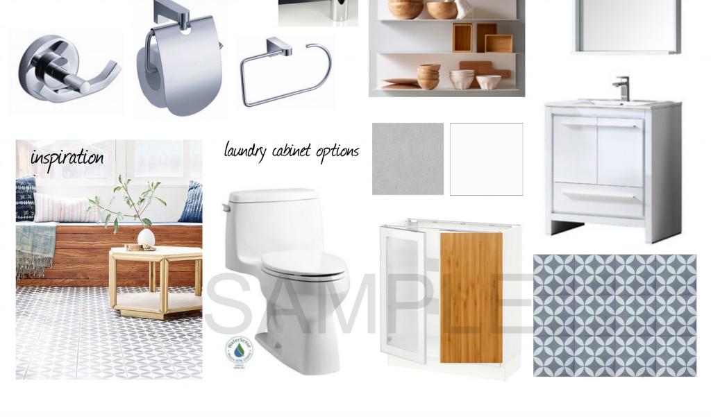 Bathroom Mood Board Jersey City NJ Historic Apartment Renovation