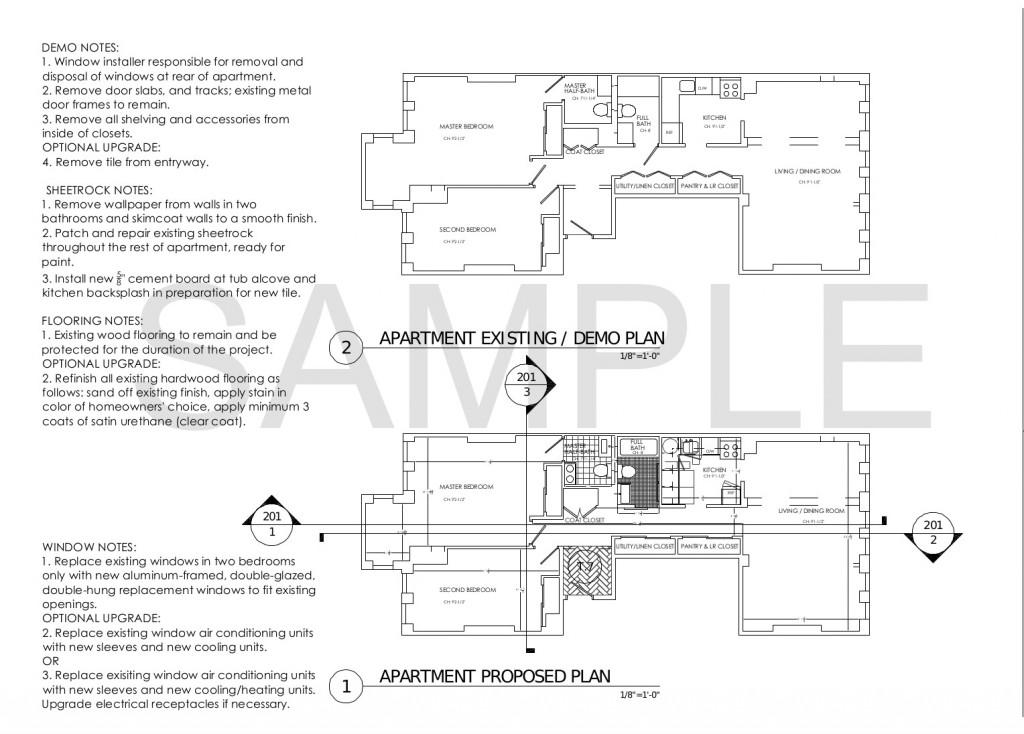 Demo Plan Proposed Plan Jersey City NJ Historic Apartment