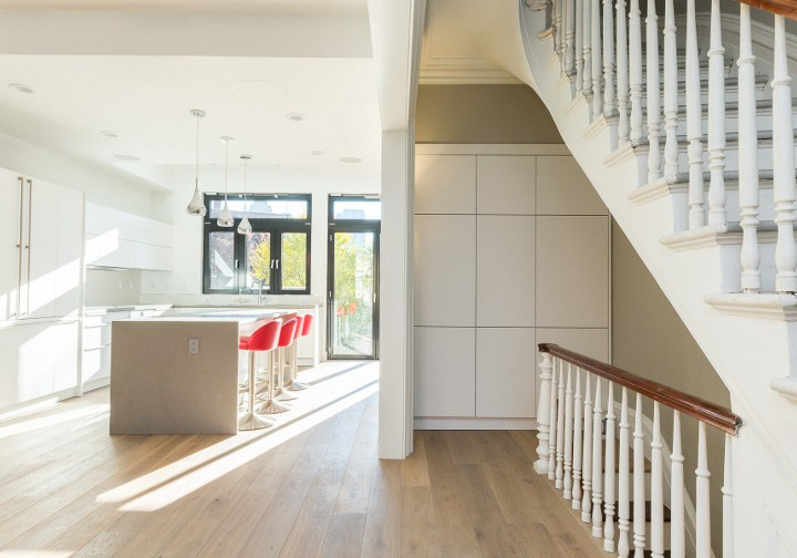 Brownstone Renovation with New Kitchen and Floors and Staircase