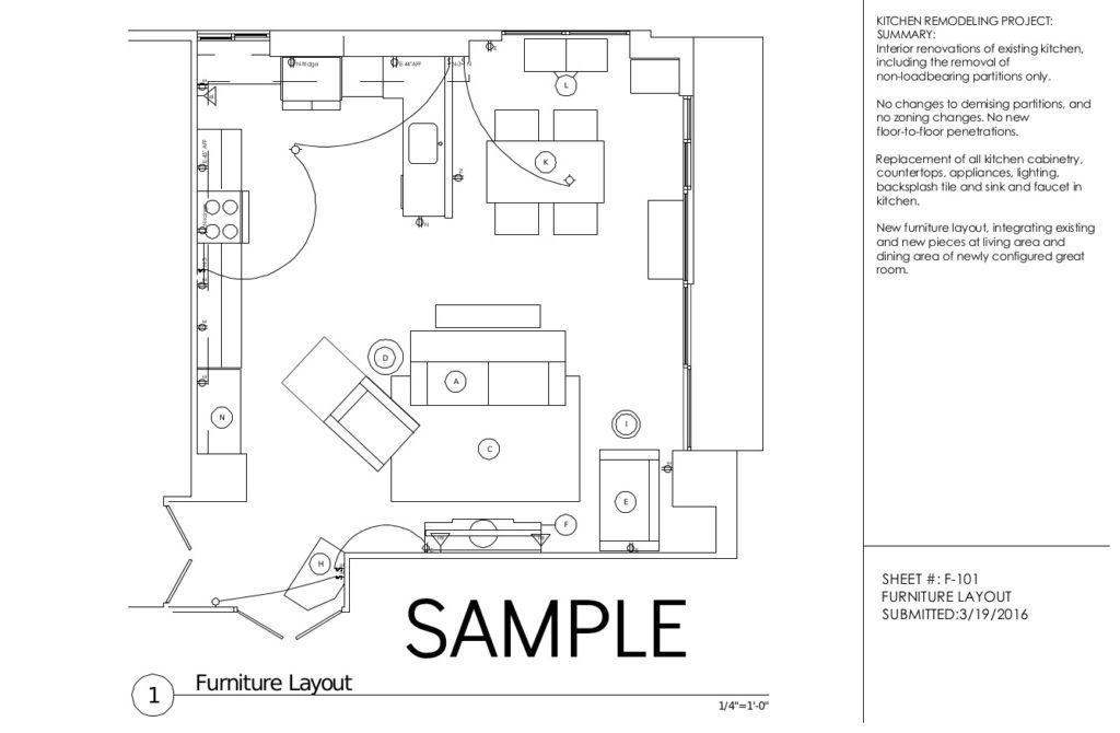 Furniture Layout, Cliffside Park NJ Apartment Renovation