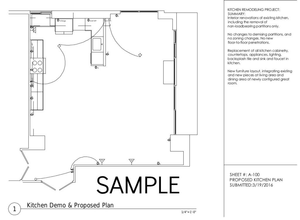Kitchen Demo Plan, Cliffside Park NJ Apartment Renovation
