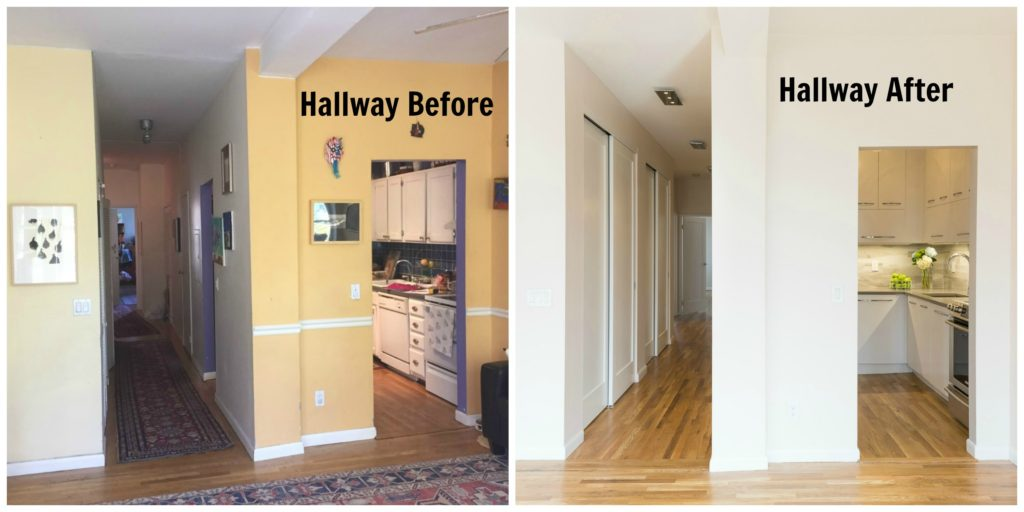 Jersey City NJ Historic Apartment Renovation Hallway Before and After 2016