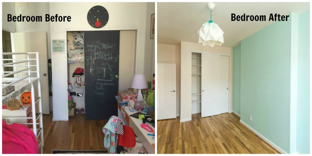Jersey City NJ Historic Apartment Renovation Bedroom Before and After
