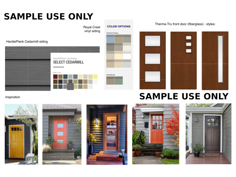 Jersey City Heights Full Home Remodel Top to Bottom Transformation Exterior Mood Board