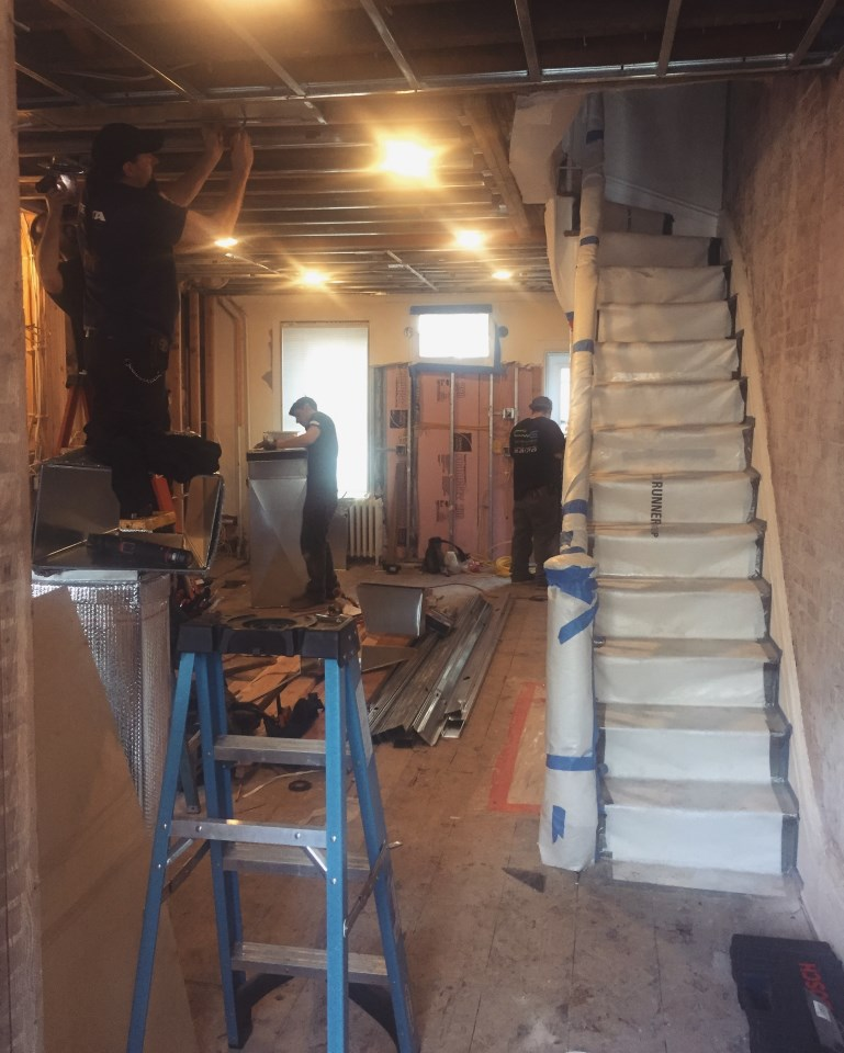 Historic District Brownstone Remodel Project In Process History Revitalized During Remodel 02