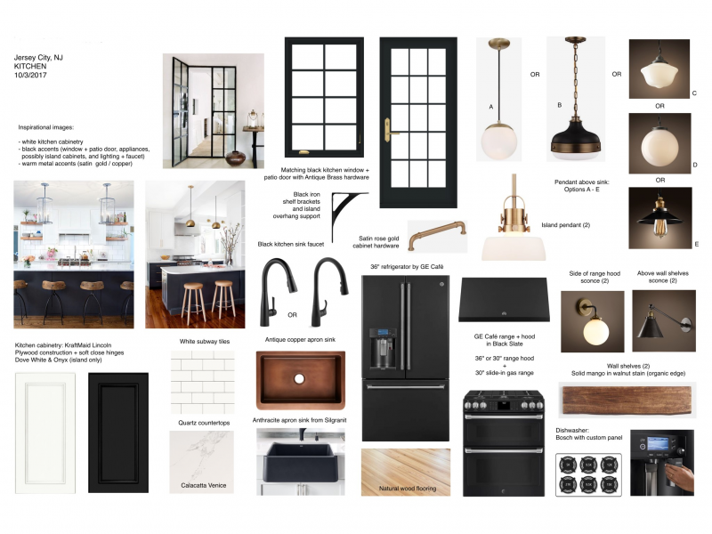 Historic District Brownstone Remodel Project In Process History Revitalized Kitchen Mood Board