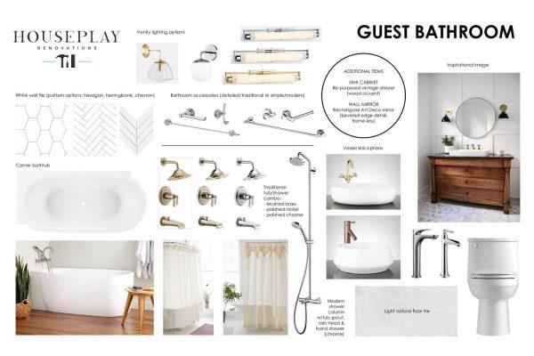 Guest Bathroom Mood Board