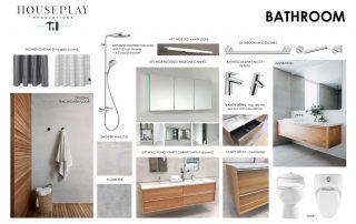 Mood board for bathroom remodel